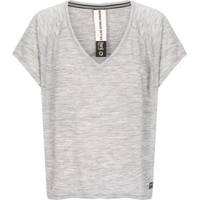 super.natural Jonser T-Shirt Donna, ash melange/jet black namaste print